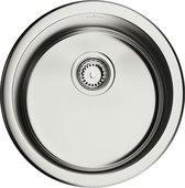 Кухонная мойка круглая без крыла, нержавеющая сталь, сатин Omoikiri Toya 45-IN 4993064