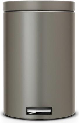 Мусорный бак 20л с педалью, MotionControl, платиновый Brabantia 482762