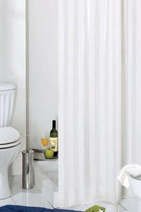 Штора для ванны 180x200см текстильная белая с кольцами Grund RIGONE 804.98.032