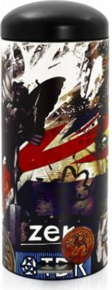 Высокий мусорный бак 30л с педалью, MotionControl, рисунок London Brabantia RETRO BIN 480324