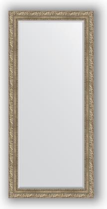 Зеркало с фацетом в багетной раме 75x165см виньетка античное серебро 85мм Evoform BY 3591