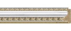 Зеркало 75x155см в багетной раме бусы платиновые Evoform BY 1117