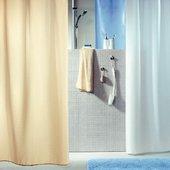 Штора для ванны 180x200см текстильная голубая Spirella RICCO 1043813