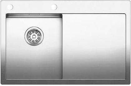 Кухонная мойка чаша слева, крыло справа, с клапаном-автоматом, нержавеющая сталь зеркальной полировки Blanco CLARON 4 S-IF/А 513998