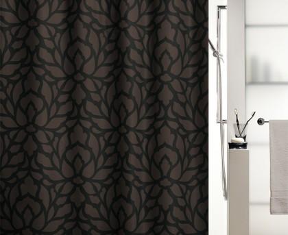 Штора для ванны 180x200см текстильная коричневая Spirella VEDETTA 1017192