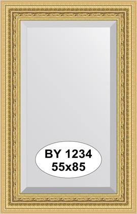 Зеркало 55x85см с фацетом 30мм в багетной раме сусальное золото Evoform BY 1234