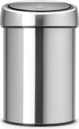 Ведро для мусора 3л стальное матовое Brabantia TOUCH BIN 363986