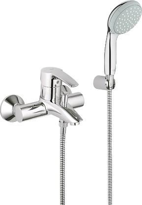 Смеситель однорычажный для ванны с изливом и душевым гарнитуром, хром Grohe EUROSTYLE 33592001