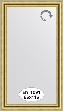 Зеркало 66x116см в багетной раме старое золото Evoform BY 1091