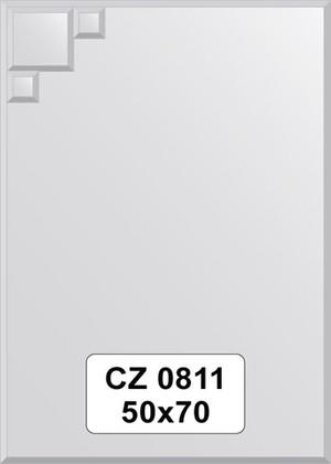 Зеркало для ванной 50x70см с фацетом и декором FBS CZ 0811