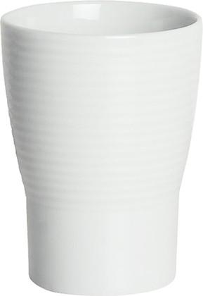 Стакан фарфоровый рельефный белый Spirella OPERA 1007712