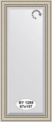 Зеркало 67x157см с фацетом 25мм в багетной раме серебряный акведук Evoform BY 1288