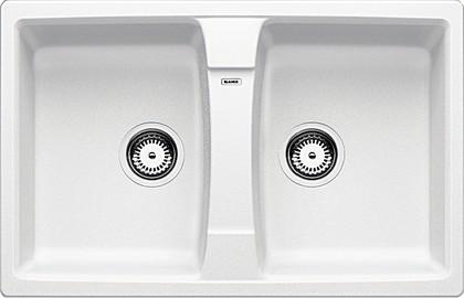 Кухонная мойка оборачиваемая без крыла, гранит, белый Blanco LEXA 8 514694