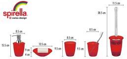 Ёрш для туалета с красной подставкой Spirella TORONTO 1006773