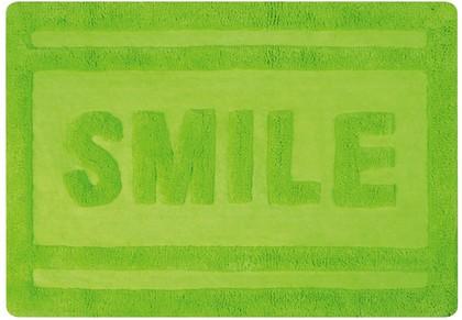 Коврик для ванной комнаты хлопковый 60x90см зелёный Spirella Ibiza Love SMILE 1017821