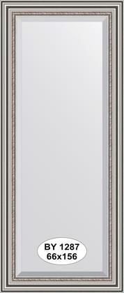 Зеркало 66x156см с фацетом 30мм в багетной раме римское серебро Evoform BY 1287