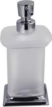 Ёмкость для жидкого мыла стеклянная с настольным держателем хром Colombo PORTOFINO B9326