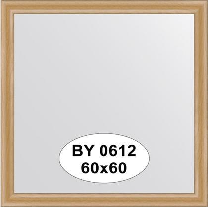 Зеркало 60x60см в багетной раме клён Evoform BY 0612