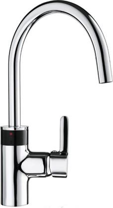 Смеситель электронный с поворотным изливом для кухни, хром Kludi E-GO 422100575