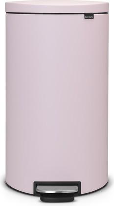 Розовый мусорный бак с педалью 30л Brabantia FlatBack+ 103988