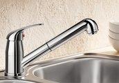 Смеситель кухонный однорычажный с выдвижным изливом, хром Blanco DARAS-S 517731