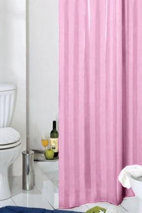 Штора для ванны 180x200см текстильная розовая с кольцами Grund RIGONE 804.98.219