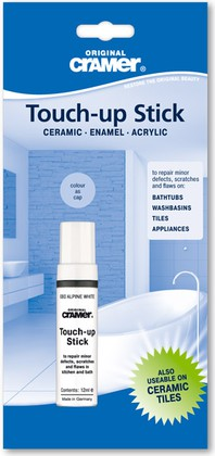 Штрих-корректор для ремонта ванн, поддонов, 12мл, alpine white Cramer 15080
