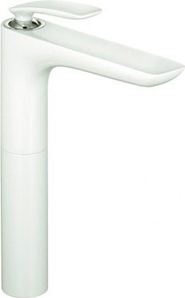 Смеситель однорычажный с высоким корпусом для раковины, белый / хром Kludi BALANCE 522969175