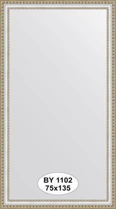 Зеркало 75x135см в багетной раме бусы платиновые Evoform BY 1102