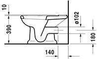 Чаша напольного унитаза, выпуск горизонтальный Duravit 1930 2270900001