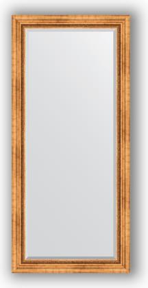 Зеркало с фацетом в багетной раме 76x166см- римское золото 88мм Evoform BY 3594