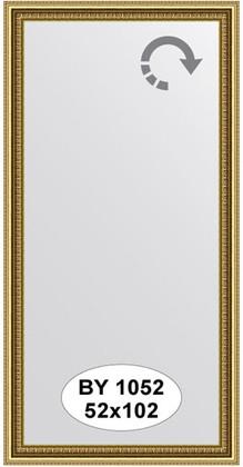 Зеркало 52x102см в багетной раме бусы золотые Evoform BY 1052