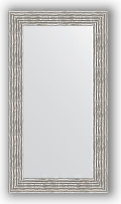 Зеркало в багетной раме 60x110см волна хром 90мм Evoform BY 3089
