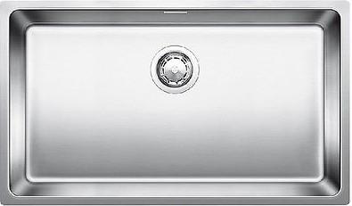 Кухонная мойка без крыла, с клапаном-автоматом, нержавеющая сталь полированная Blanco ANDANO 700-U 518615