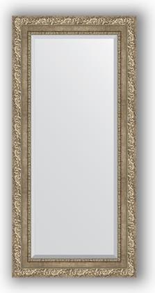 Зеркало с фацетом в багетной раме 55x115см виньетка античное серебро 85мм Evoform BY 3487