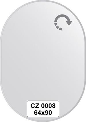 Зеркало для ванной 64x90см с фацетом 10мм FBS CZ 0008
