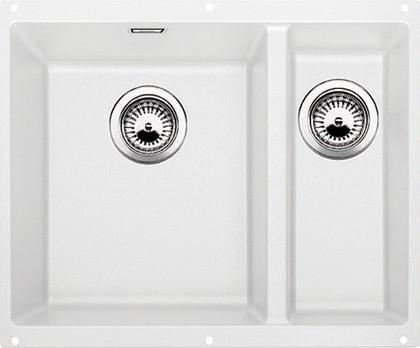 Кухонная мойка без крыла, основная чаша слева, с клапаном-автоматом, гранит, белый Blanco SUBLINE 340/160-U 513790