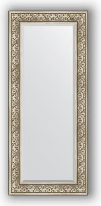 Зеркало с фацетом в багетной раме 65x150см барокко серебро 106мм Evoform BY 3554