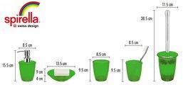 Ёмкость для жидкого мыла зелёная Spirella TORONTO 1010512