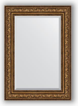 Зеркало с фацетом в багетной раме 70x100см виньетка состаренная бронза 109мм Evoform BY 3453
