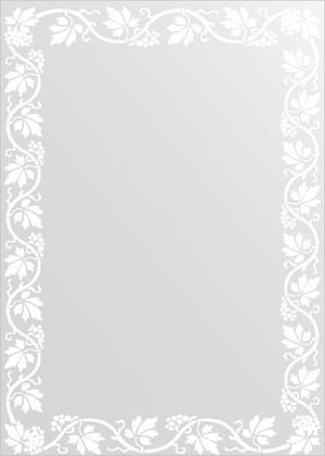 Зеркало для ванной с орнаментом 50x70см FBS CZ 0759
