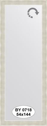 Зеркало 54x144см в багетной раме травлёное серебро Evoform BY 0718