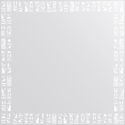 Зеркало для ванной с орнаментом 60x60см FBS CZ 0753