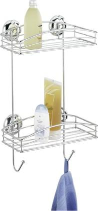 Полочка-решётка для ванной 2-уровневая, хром Wenko SUPER-LOC 16767100