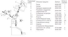 Смеситель настенный однорычажный для кухни, хром Grohe EURODISC 33772001