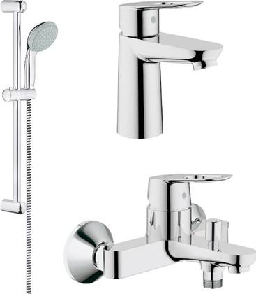 Комплект смесителей для ванны и раковины с душевым гарнитуром Grohe BauLoop 121827