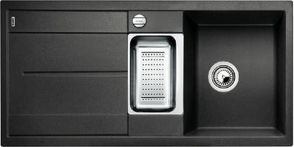 Кухонная мойка оборачиваемая с крылом, с клапаном-автоматом, коландером, гранит, антрацит Blanco METRA 6 S-F 519113