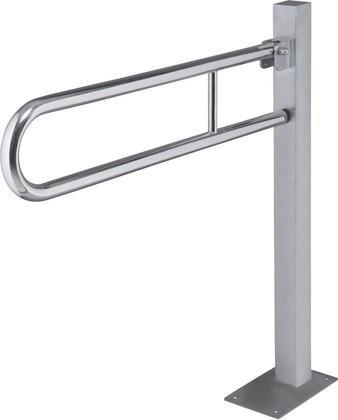 Складной поручень с напольным креплением, нержавеющая сталь, Bemeta 301107601