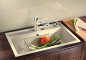 Кухонная мойка без крыла, с клапаном-автоматом, гранит, кофе Blanco DALAGO 8 516638