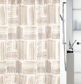 Штора для ванной комнаты 180x200см текстильная, бежевая Spirella GRAFFIO 1017912
